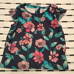 Baby Gap Floral Print Swim Top